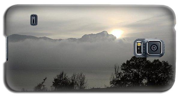 Galaxy S5 Case featuring the photograph November Fog Over Moonlake by Menega Sabidussi
