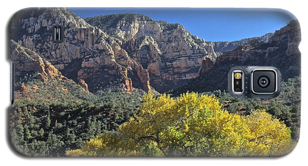 Galaxy S5 Case featuring the photograph November In Sedona by Penny Meyers