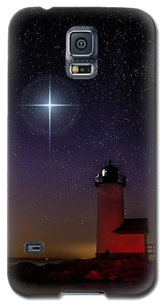 Star Over Annisquam Lighthouse Galaxy S5 Case by Jeff Folger