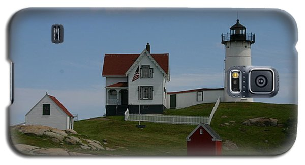 Galaxy S5 Case featuring the photograph Nubble Light House York Maine by Denyse Duhaime