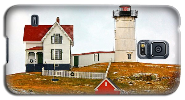 Galaxy S5 Case featuring the photograph Nubble Lighthouse by Amazing Jules