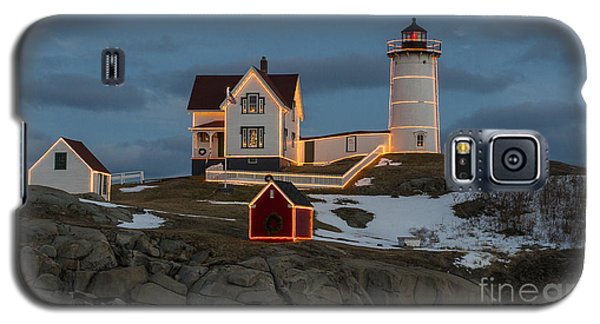 Nubble Lighthouse At Christmas Galaxy S5 Case