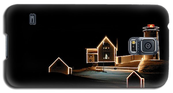 Nubble Lighthouse Christmas Lights Galaxy S5 Case by Denyse Duhaime