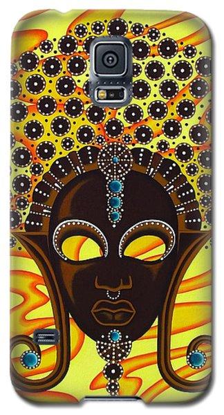 Nubian Modern Afro Mask Galaxy S5 Case by Joseph Sonday