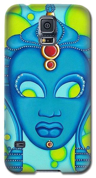 Nubian Modern Mask Blue Galaxy S5 Case by Joseph Sonday