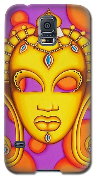 Nubian Modern Mask Gold Galaxy S5 Case by Joseph Sonday
