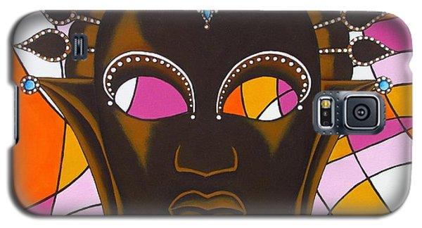 Nubian Modern Mask With Pink Galaxy S5 Case by Joseph Sonday