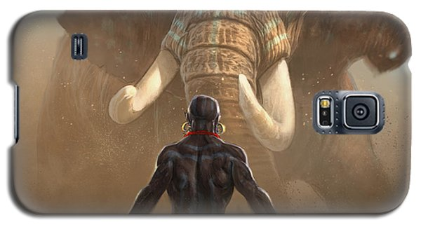 Galaxy S5 Case featuring the digital art Nubian Warriors by Aaron Blaise