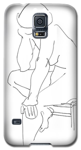 Nude Female Drawings 12 Galaxy S5 Case by Gordon Punt