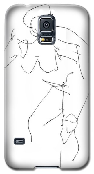Nude Female Drawings 14 Galaxy S5 Case by Gordon Punt