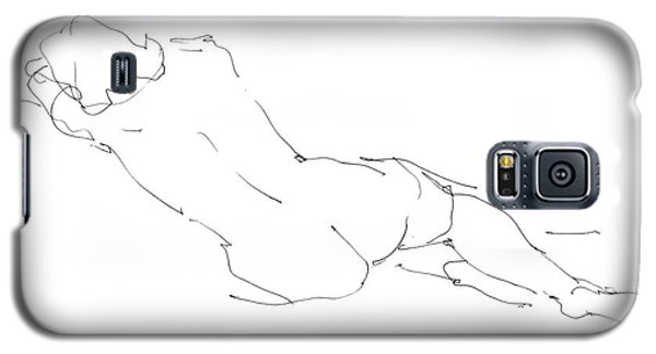 Nude Female Drawings 9 Galaxy S5 Case by Gordon Punt