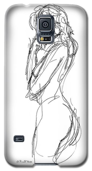 Nude Female Sketches 1 Galaxy S5 Case by Gordon Punt