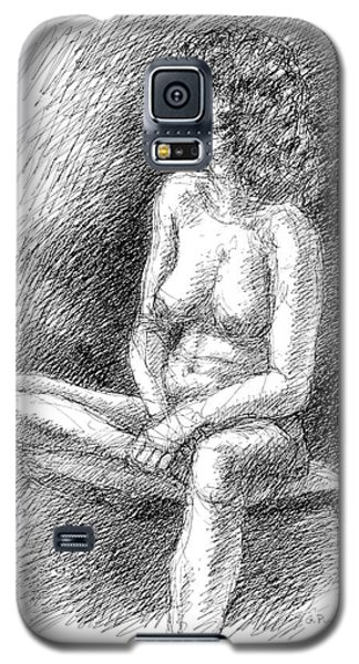 Galaxy S5 Case featuring the drawing Nude Female Sketches 2 by Gordon Punt