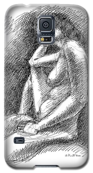 Galaxy S5 Case featuring the drawing Nude Female Sketches 3 by Gordon Punt