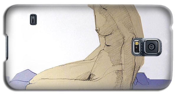 Nude Figure In Blue Galaxy S5 Case
