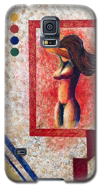Nude  Girl In Frame  Galaxy S5 Case by Renate Voigt