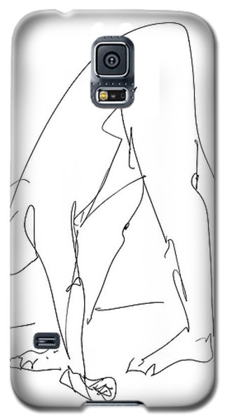 Nude Male Drawings 32 Galaxy S5 Case by Gordon Punt