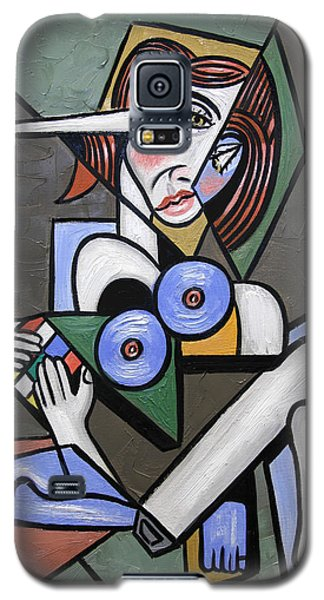 Nude Woman With Rubiks Cube Galaxy S5 Case