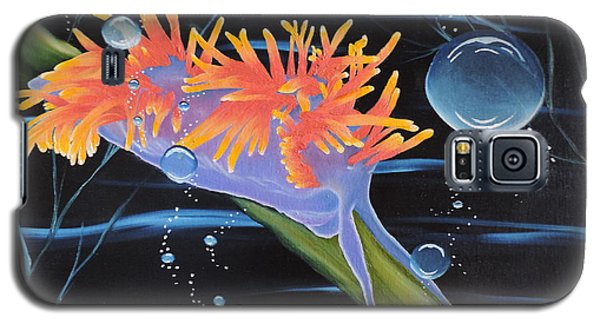 Galaxy S5 Case featuring the painting Nudibranche by Dianna Lewis
