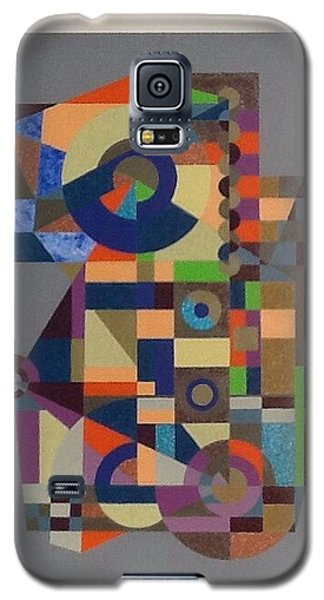 Galaxy S5 Case featuring the painting Number 1 by Hang Ho
