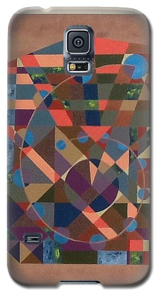 Galaxy S5 Case featuring the painting Number 6 by Hang Ho