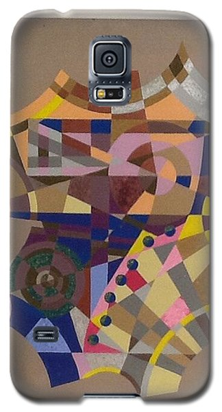 Galaxy S5 Case featuring the painting Number 7 by Hang Ho