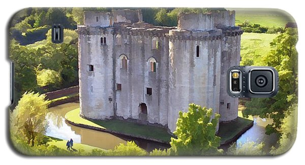 Nunney Castle Painting Galaxy S5 Case by Ron Harpham