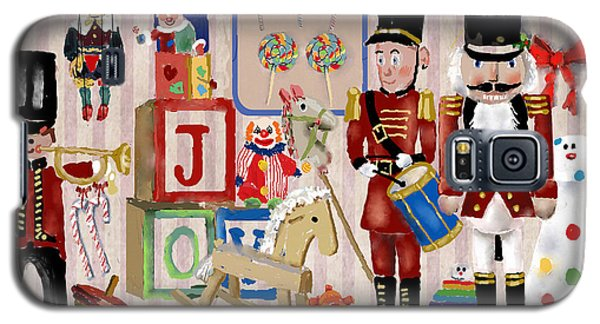 Galaxy S5 Case featuring the digital art Nutcracker And Friends by Arline Wagner