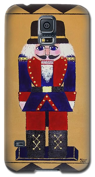 Galaxy S5 Case featuring the painting Nutcracker Floor Cloth Sgt. Blue by Cindy Micklos