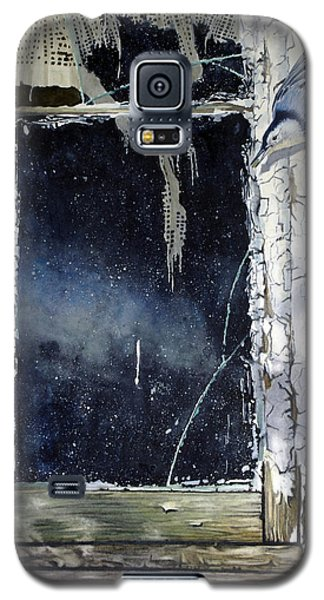 Nuthatch And Window Galaxy S5 Case