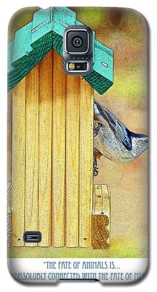 Nuthatch On Bird Feeder Galaxy S5 Case by A Gurmankin