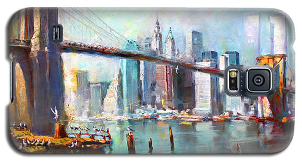 Ny City Brooklyn Bridge II Galaxy S5 Case by Ylli Haruni