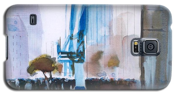 Galaxy S5 Case featuring the painting Nyny by Ed  Heaton