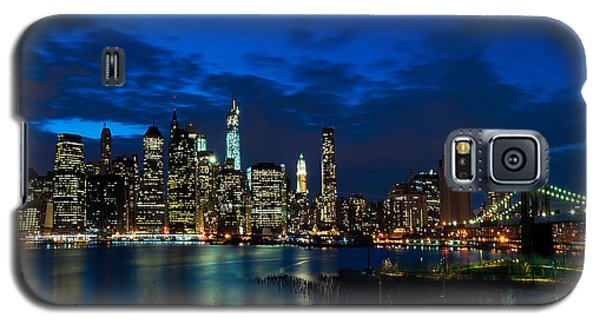 Ny Skyline From Brooklyn Heights Promenade Galaxy S5 Case by Mitchell R Grosky