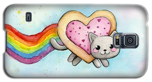 Cats Galaxy S5 Case - Nyan Cat Valentine Heart by Olga Shvartsur
