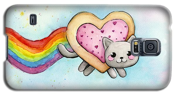 Nyan Cat Valentine Heart Galaxy S5 Case