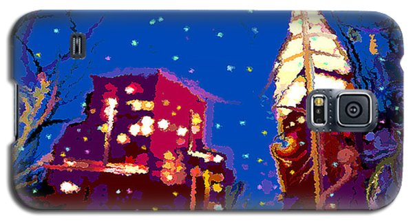 Galaxy S5 Case featuring the digital art Nyc Holiday by David Klaboe