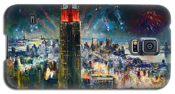 Nyc In Fourth Of July Independence Day Galaxy S5 Case by Ylli Haruni