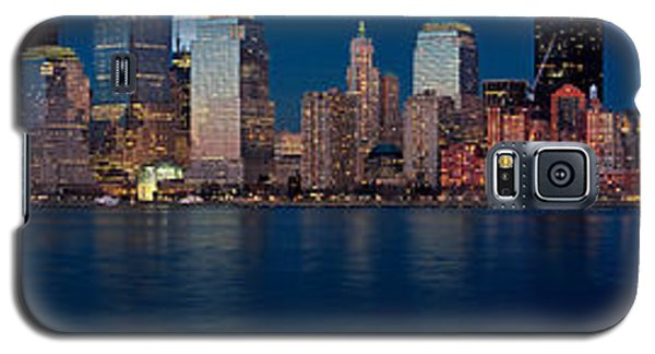Galaxy S5 Case featuring the photograph Nyc Pano by Jerry Fornarotto