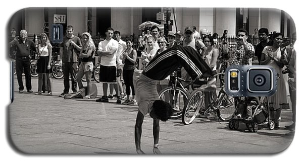 Galaxy S5 Case featuring the photograph Nycity Street Performer by Angela DeFrias