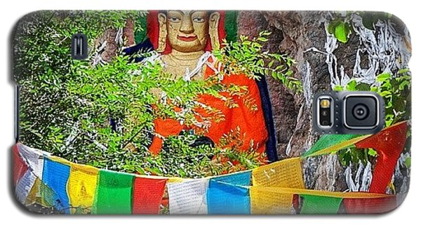 Religious Galaxy S5 Case - Nyetang Buddha And Prayer Flags by Hitendra SINKAR