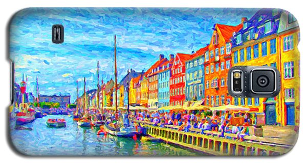 Nyhavn In Denmark Painting Galaxy S5 Case
