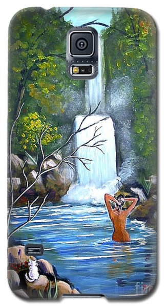 Galaxy S5 Case featuring the painting Nymph In Pool by Phyllis Kaltenbach