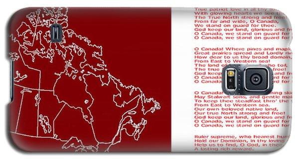 O Canada Lyrics And Map Galaxy S5 Case