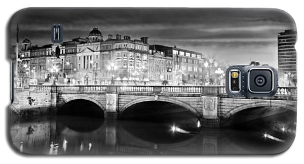 O Connell Bridge At Night - Dublin - Black And White Galaxy S5 Case