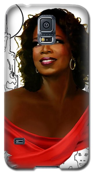 Galaxy S5 Case featuring the painting O Town Oprah by Jann Paxton