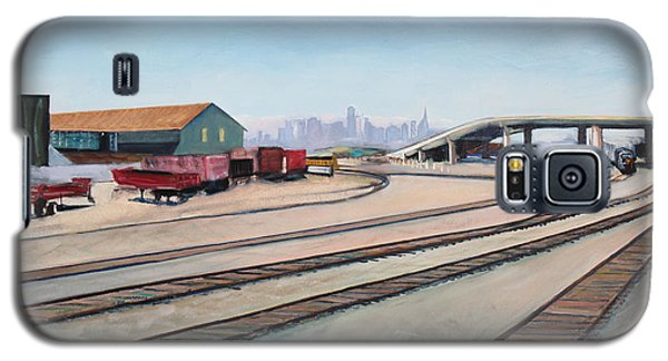 Oakland Train Tracks And San Francisco Skyline Galaxy S5 Case