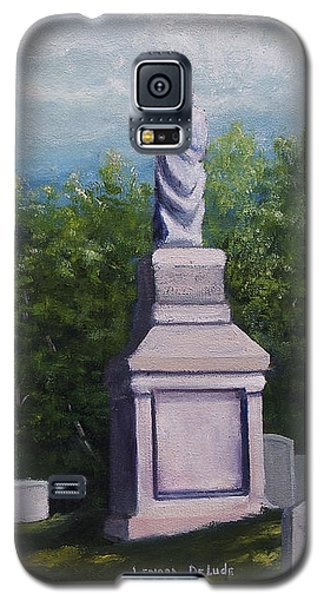 Galaxy S5 Case featuring the painting Oakwood Cemetery Jefferson Texas by Lenora  De Lude
