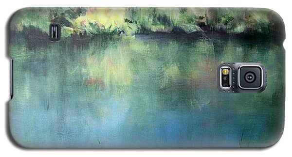 Galaxy S5 Case featuring the painting Oasis by Mary Lynne Powers