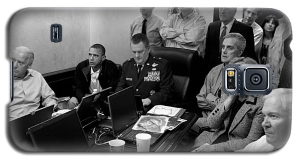 Obama In White House Situation Room Galaxy S5 Case by War Is Hell Store